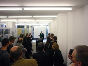 Innenansicht der Architekturgalerie Kaiserslautern